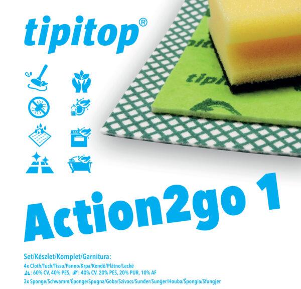 Krpe in gobice čistilne za gospodinjstvo Action2go 1