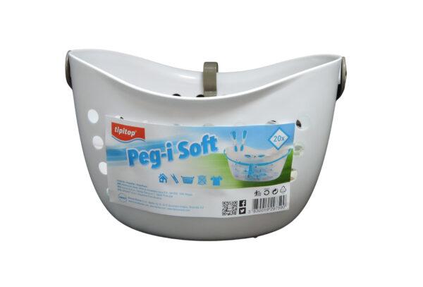 Ščipalke za perilo Pegi SOFT 20/1 in košarica za shranjevanje