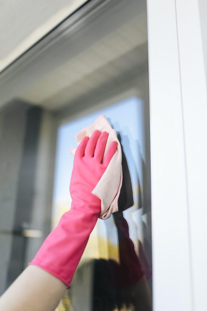 Krpa čiščenje okna