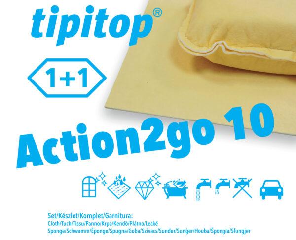 Krpa in čistilec za avto Action2go 10