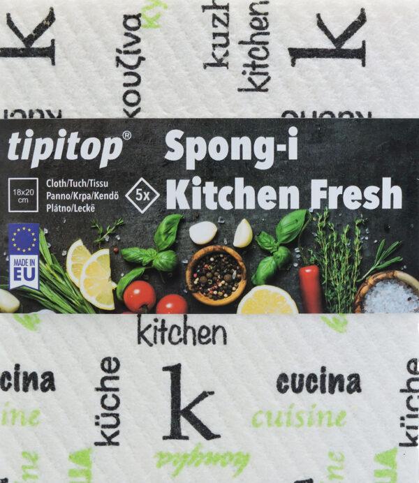Krpa Spongi Kitchen Fresh 5x spredaj